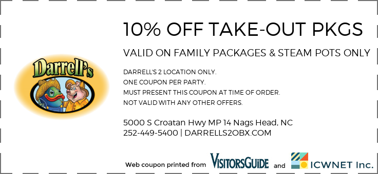 10% OFF TAKE-OUT PKGS