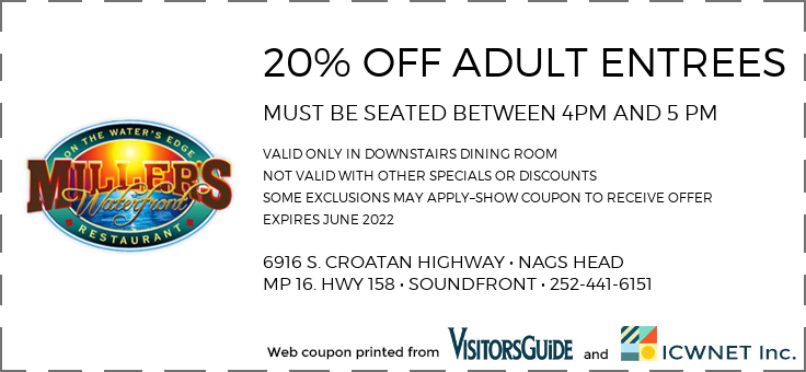 20% OFF ADULT ENTREES