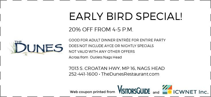 EARLY BIRD SPECIAL!