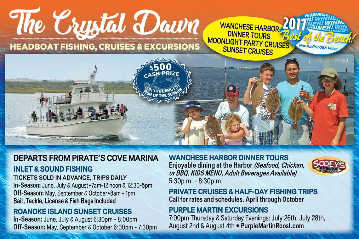 $3 OFF  WANCHESE HARBOR DINNER TOURS