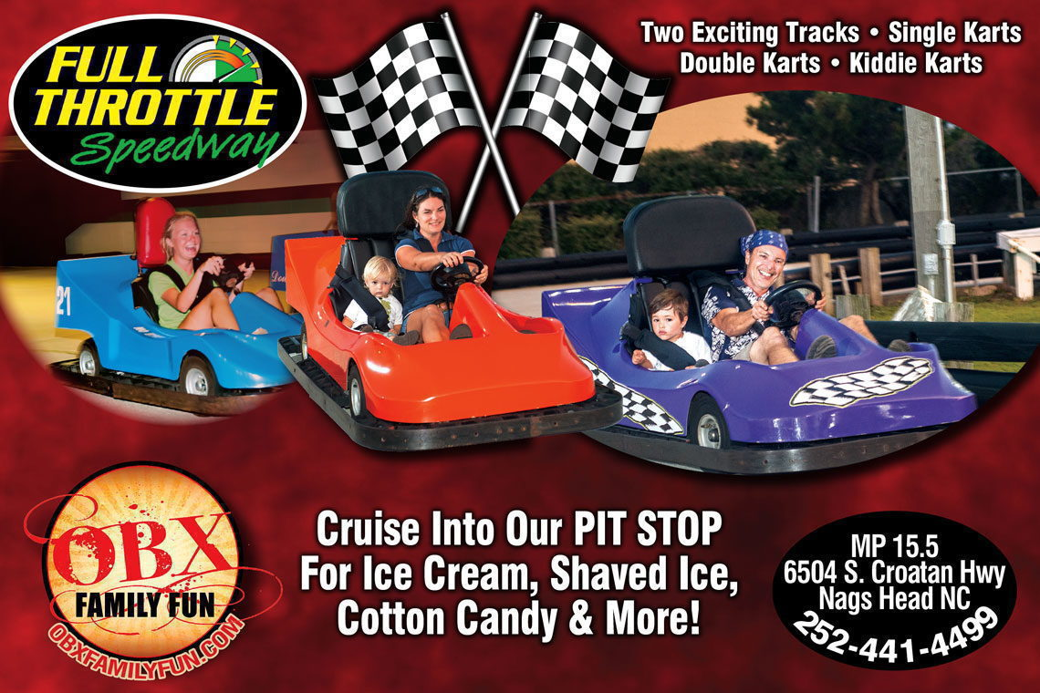 EARLY BIRD SPECIAL $1.00 OFF GA-KART RIDES BEFORE 6 PM